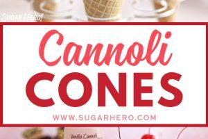Cannoli Cones photo collage