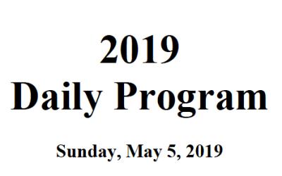 Daily Technical Program 2019