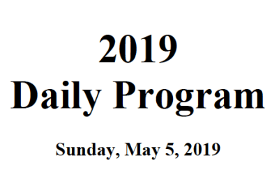Daily Technical Program 2019