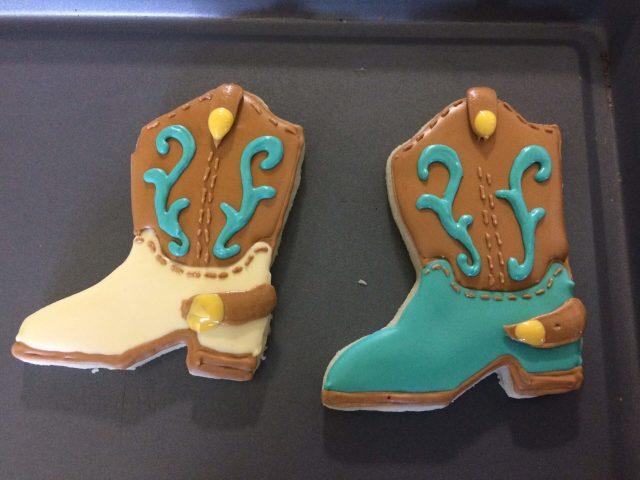 cowboy boot sugar cookies royal icing