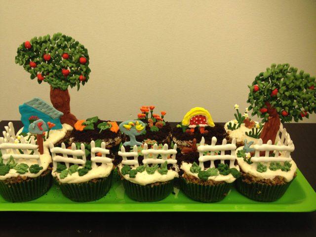 garden cupcakes royal icing