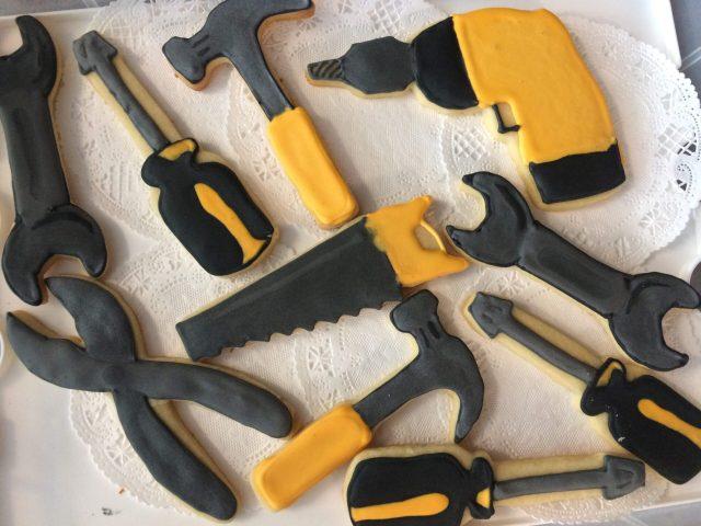 Power tool royal icing sugar cookies