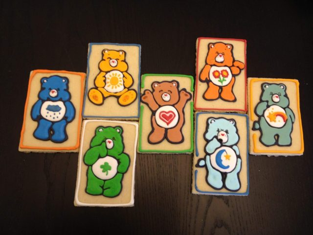 Care Bear royal icing sugar cookies