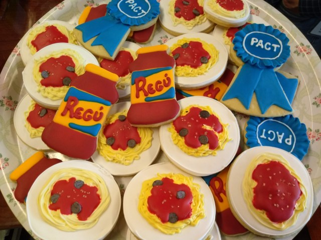spaghetti royal icing sugar cookies blue ribbon ragu