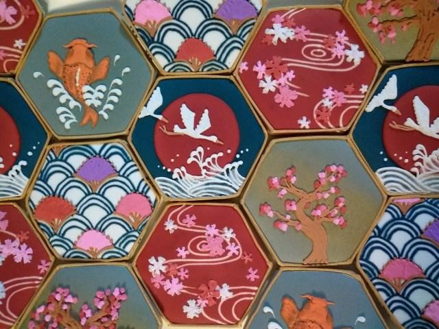 Japanese pattern sugar cookies