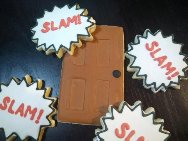ocd awareness royal icing sugar cookies door slam