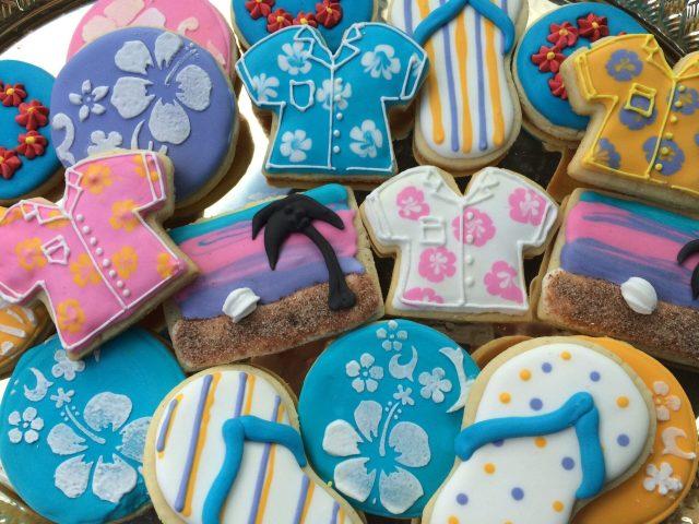 hawaii sugar cookies royal icing hawaiian shirt