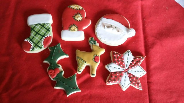 patchwork christmas cookies