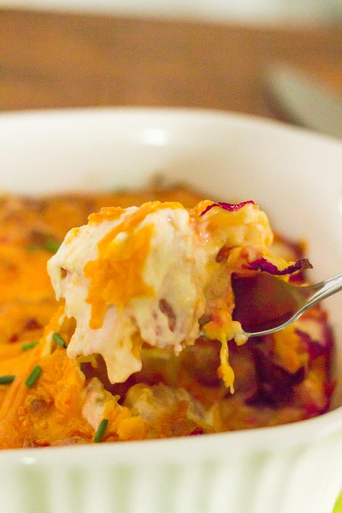 Cheesy radish recipe