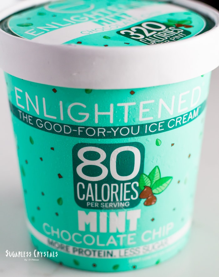 pint of enlightened ice cream flavor mint chocolate chip