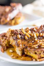 low carb pumpkin french toast bake on plate