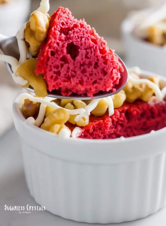Keto Cake in a Mug Red Velvet (Gluten-free, Low Carb)