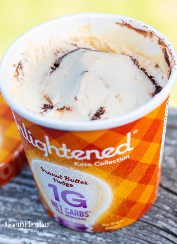 peanut butter fudge enlightened ice cream keto collection pint