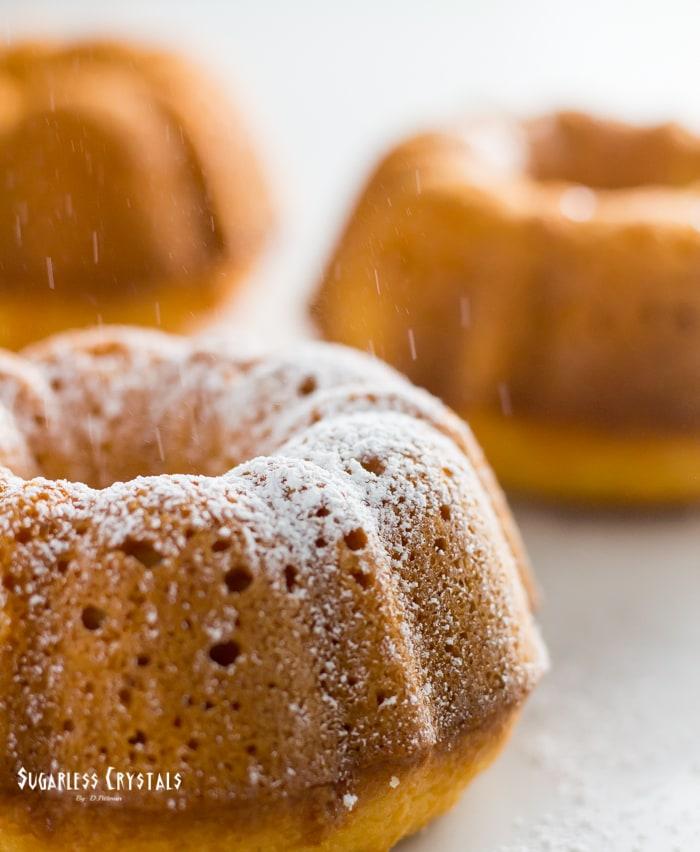 keto pound cake with powdered sweetener