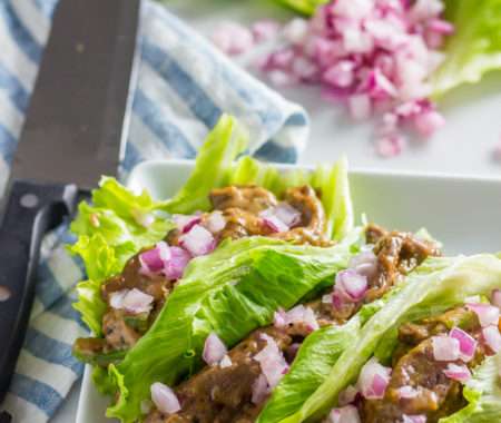 Keto Strip Steak Lettuce Wraps (Low Carb, Grain Free)