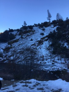 Snow along the Kern River.
