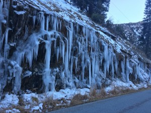 Icicles along Mountain 99.  Drive careful, it's icy out there.