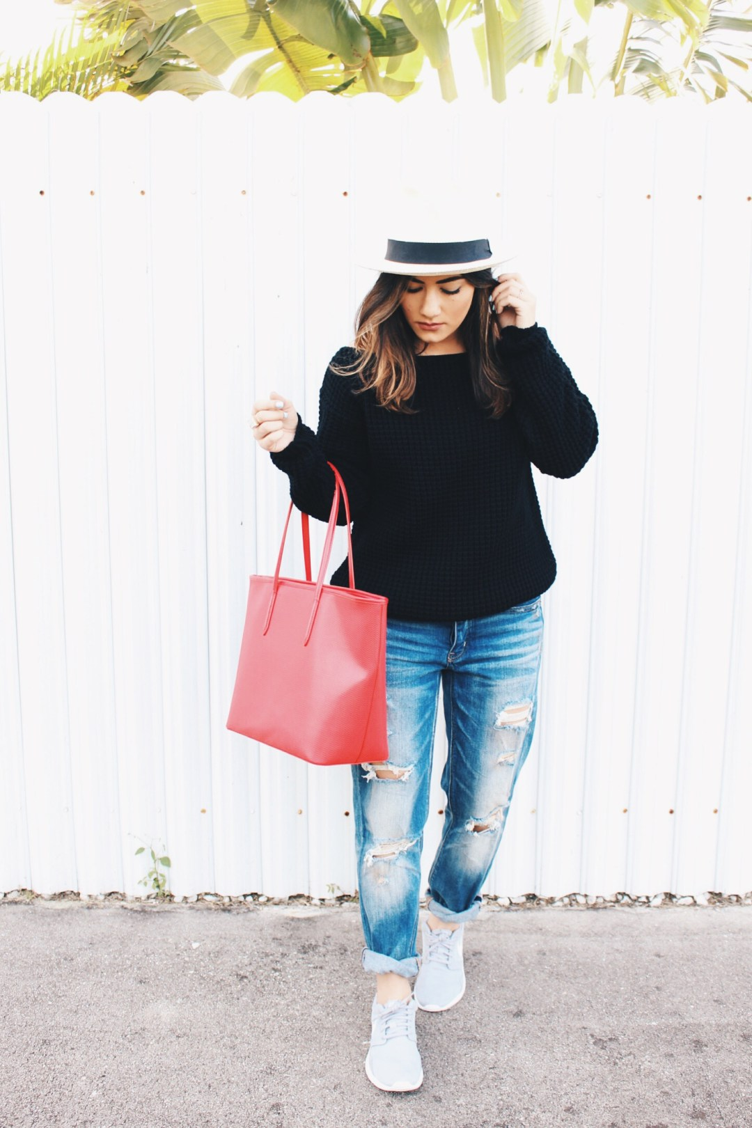 casual basic women outfit