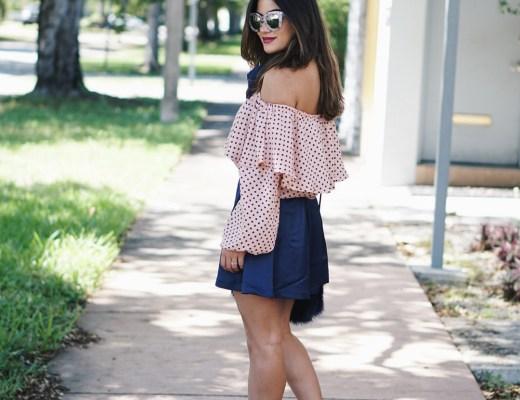 Tobi Blue Skater Skirt