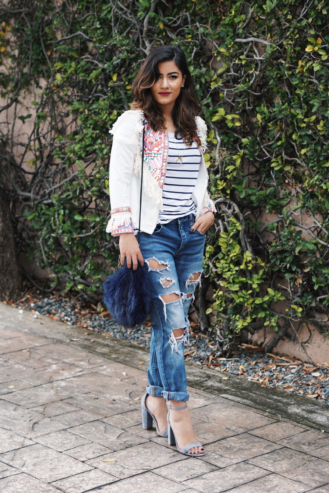 Statement Jacket with Fringe