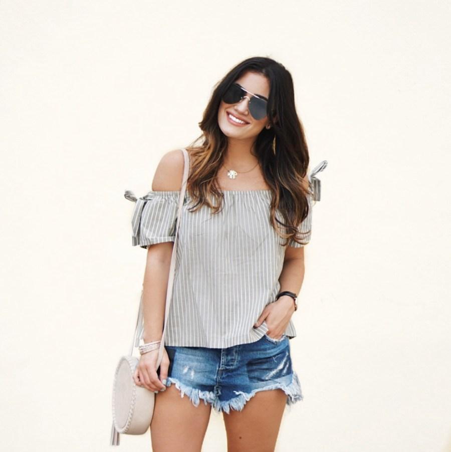 Sugar Love Chic blogger Krista Perez shows How to Style Denim Shorts for Spring + The ShopBop SALE