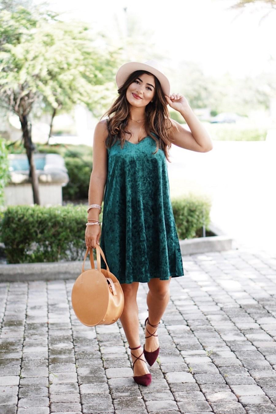 Velvet Dress for Fall