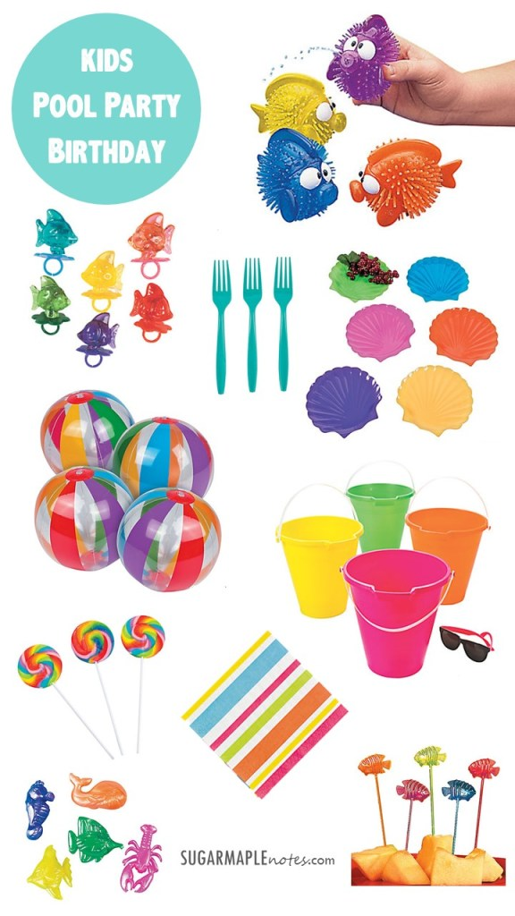 Kids Pool Party Birthday Ideas and Favors - Oriental Trading Company