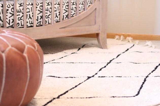 Modern Neutral Nursery Reveal - Lorena Canals Bereber Beige Rug