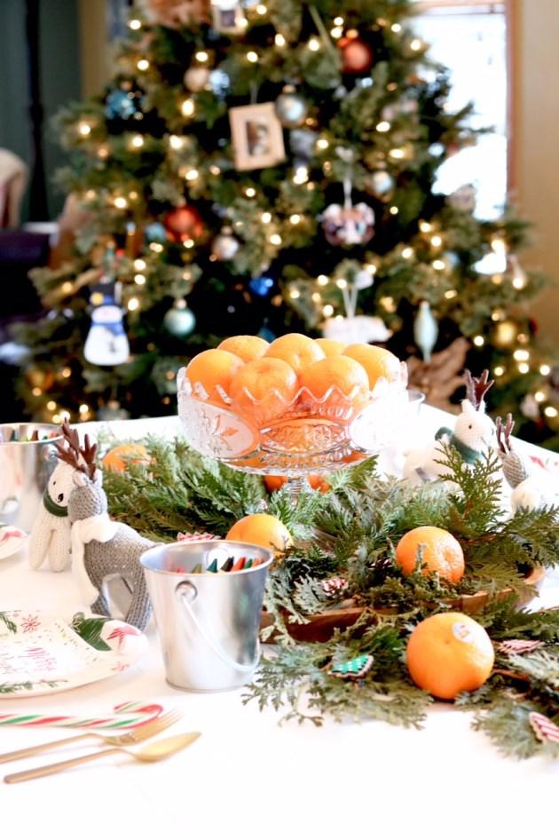 DIY Colorful and Fresh Christmas Kids Table - 100 Days of Sunshine