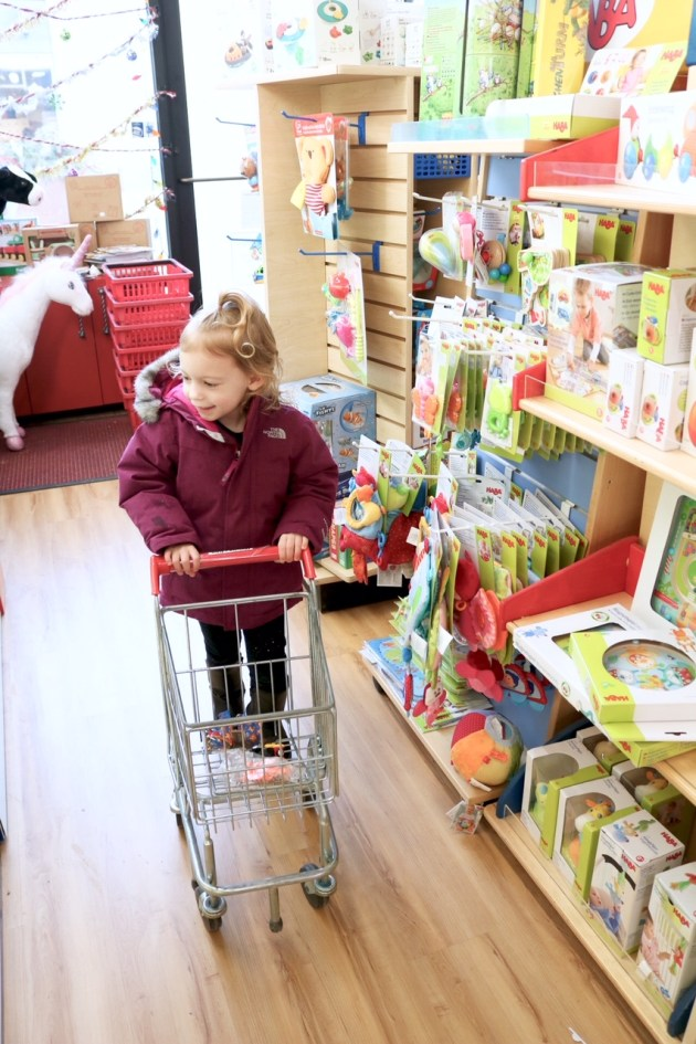 Last Minute Holiday Shopping at Hilldale - Toddler Shopping Cart