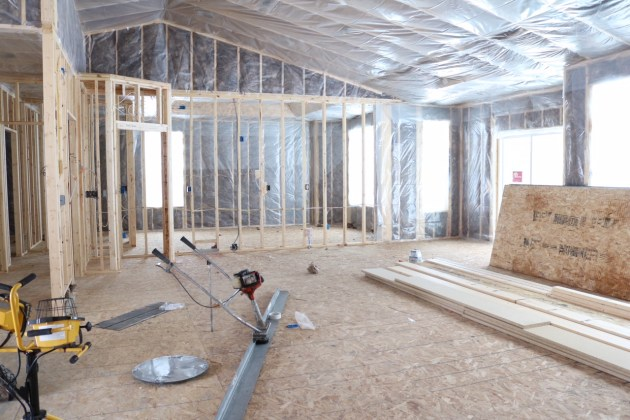 Interior of new home build.