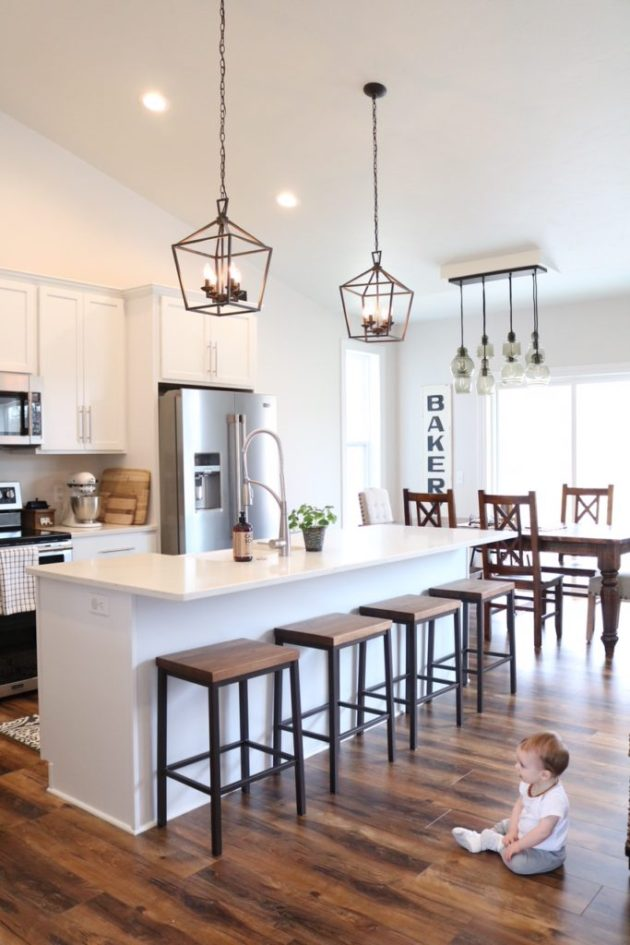 Design For Living Room With Open Kitchen: Modern Farmhouse Kitchen Reveal