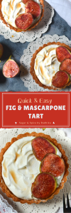 Fig and Mascarpone Tart: