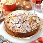 Almond and Strawberry Tea Cake