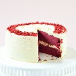 Red Velvet Cake with Cream Cheese Frosting (Eggless)