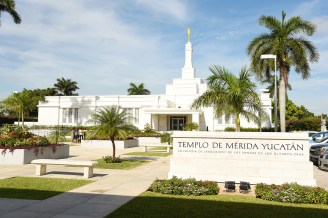 The temple is this beautiful place in Centro Merida.