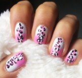 pink ombre with leopard print