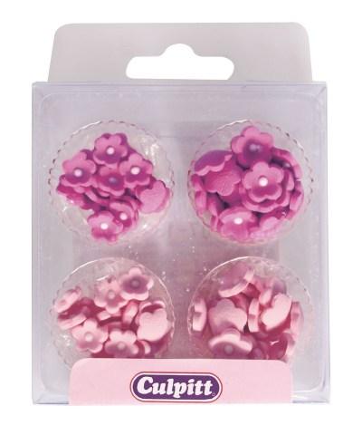 SugarPilots_Små sukkerblomster, rosamix, fra Culpitt