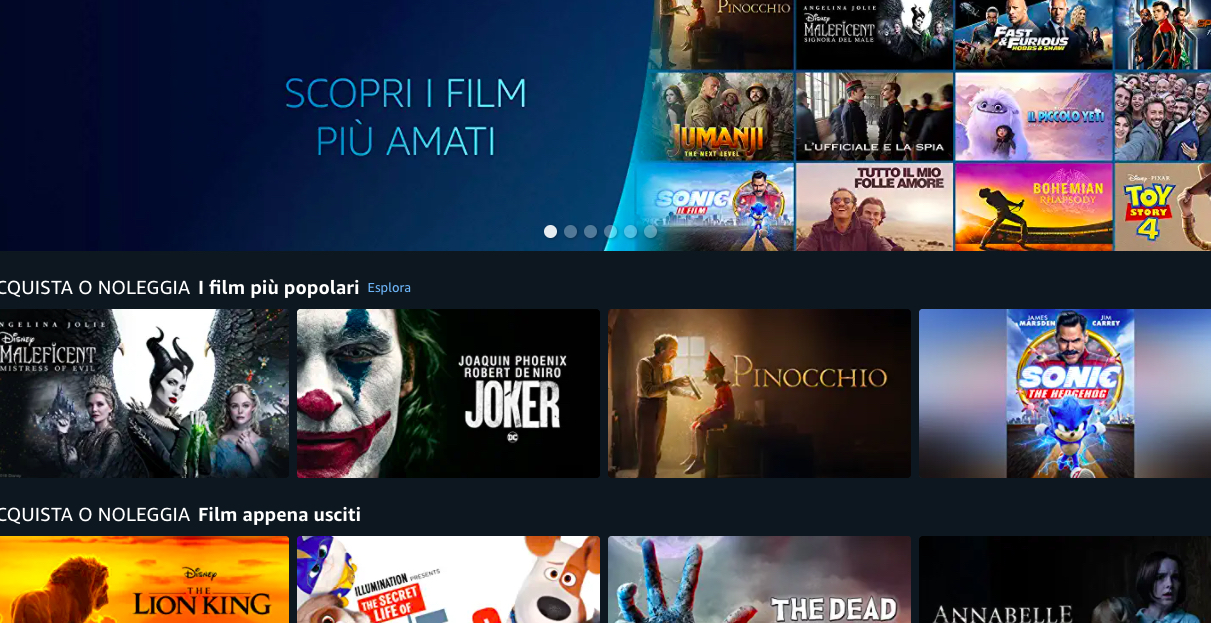 Amazon Prime Video Store debutta in Italia