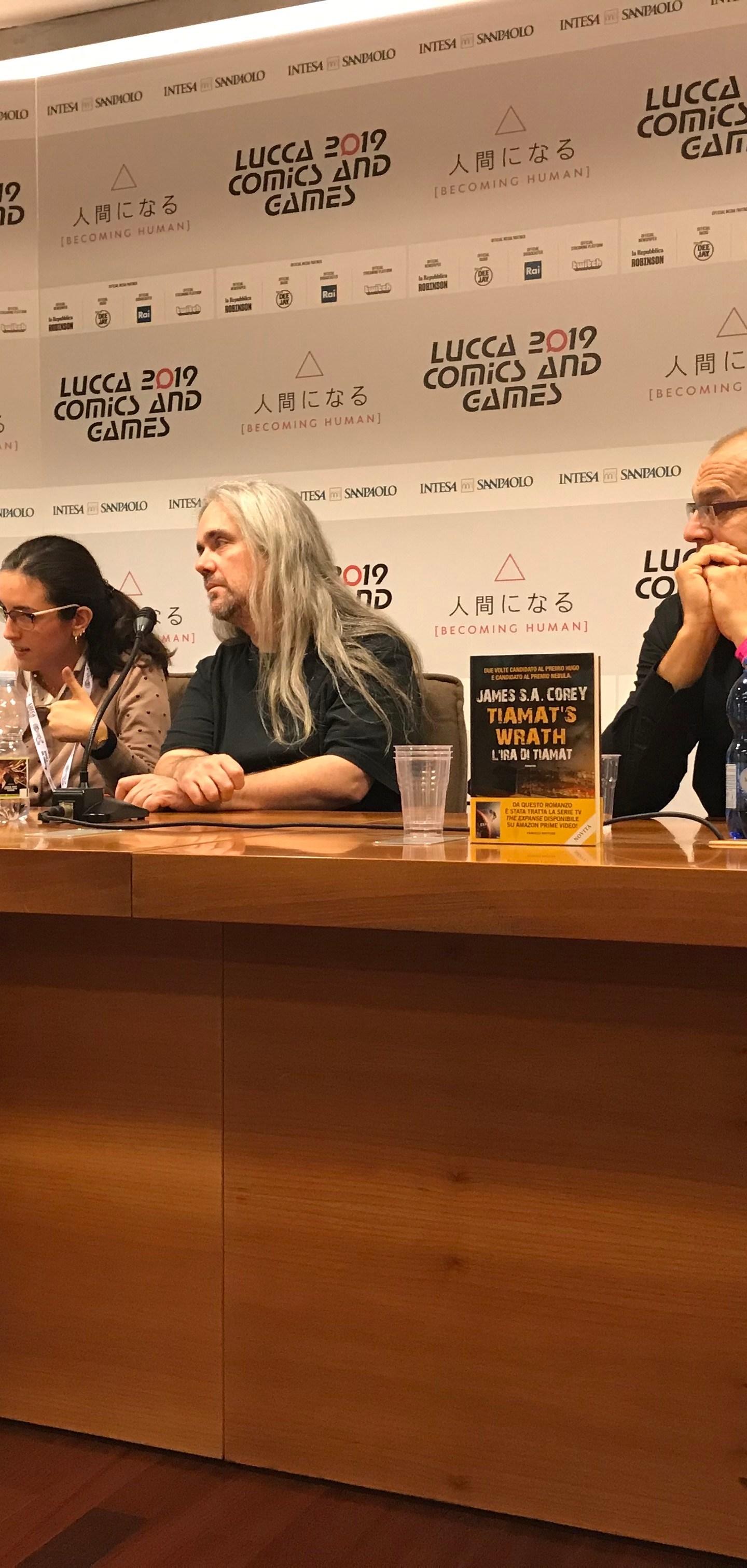 James S.A. Corey a Lucca Comics 2019