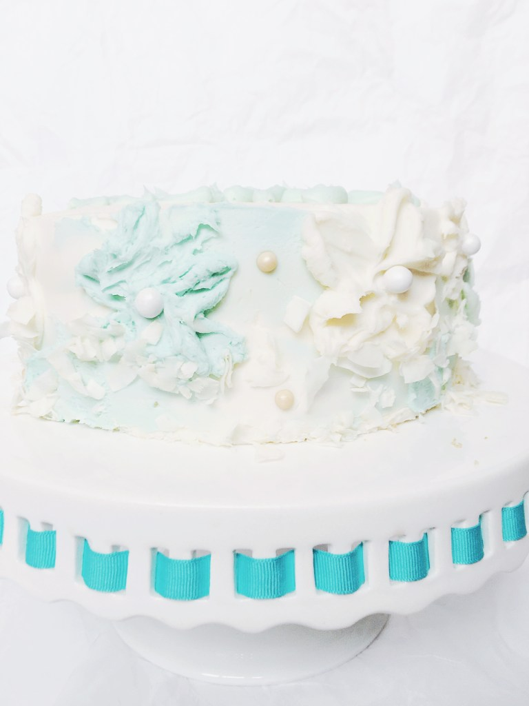 Easter Coconut Cake with Palette Knife Flowers