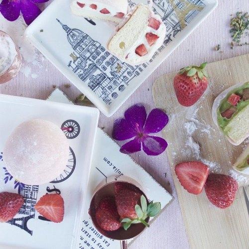 Strawberry Mochi Cake