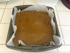 Blondie batter is ready to bake