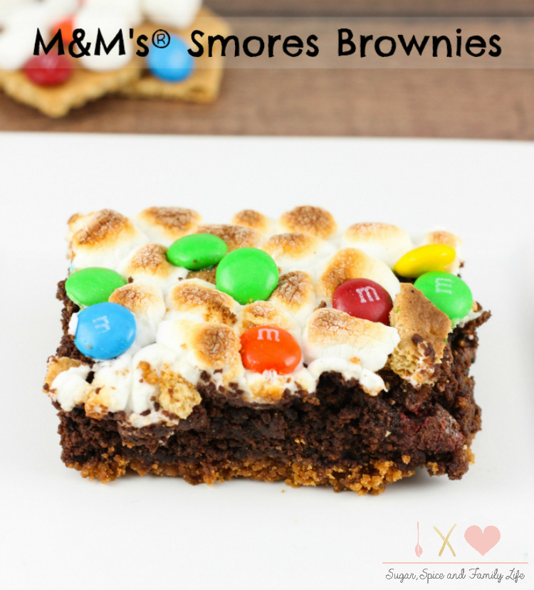 M&M's Smores Brownies