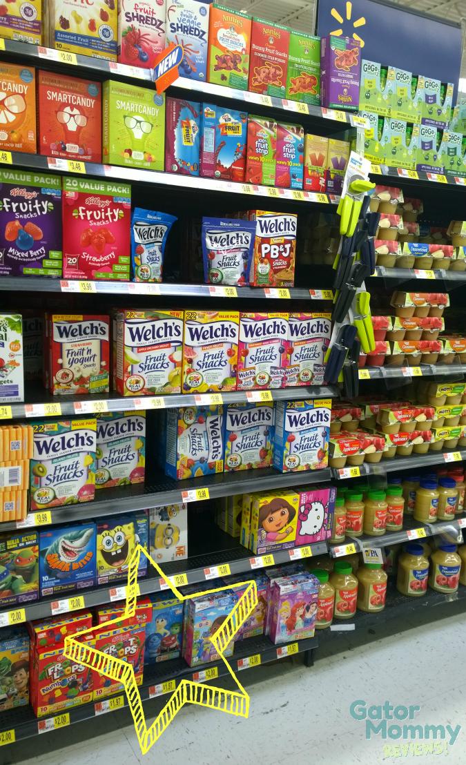 Fruit Snack Aisle at Walmart