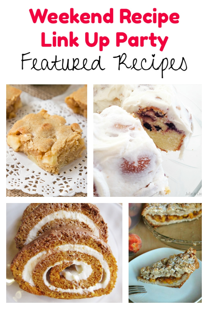 Weekend Recipe Link Up Party featured recipes 77