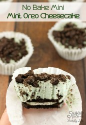 No Bake Mini Mint Oreo Cheesecake