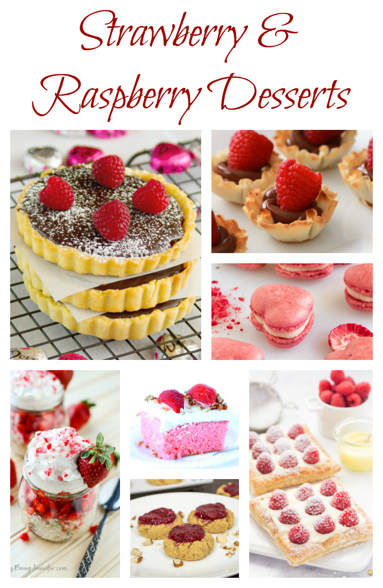 Strawberry and Raspberry Desserts