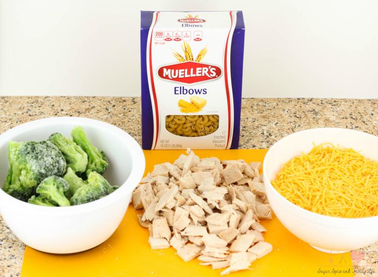 Cheesy Chicken and Broccoli Casserole Main Ingredients