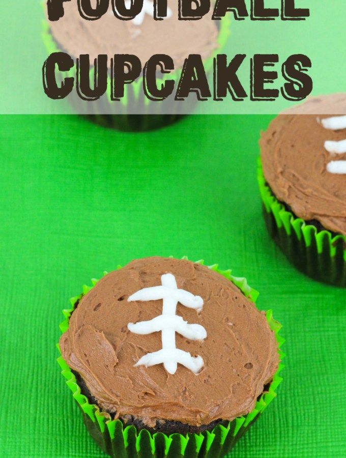 Football Chocolate Cupcakes